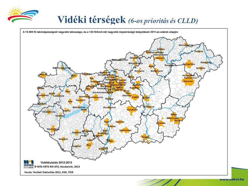 Vidéki térségek (6-os prioritás és CLLD)