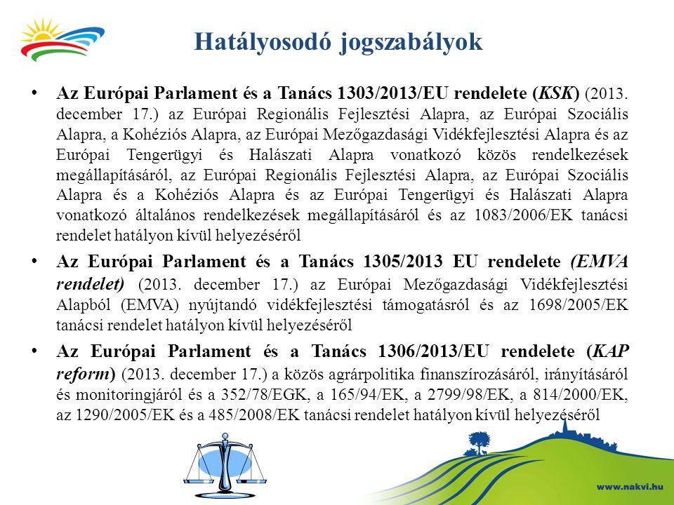 Hatályosodó jogszabályok