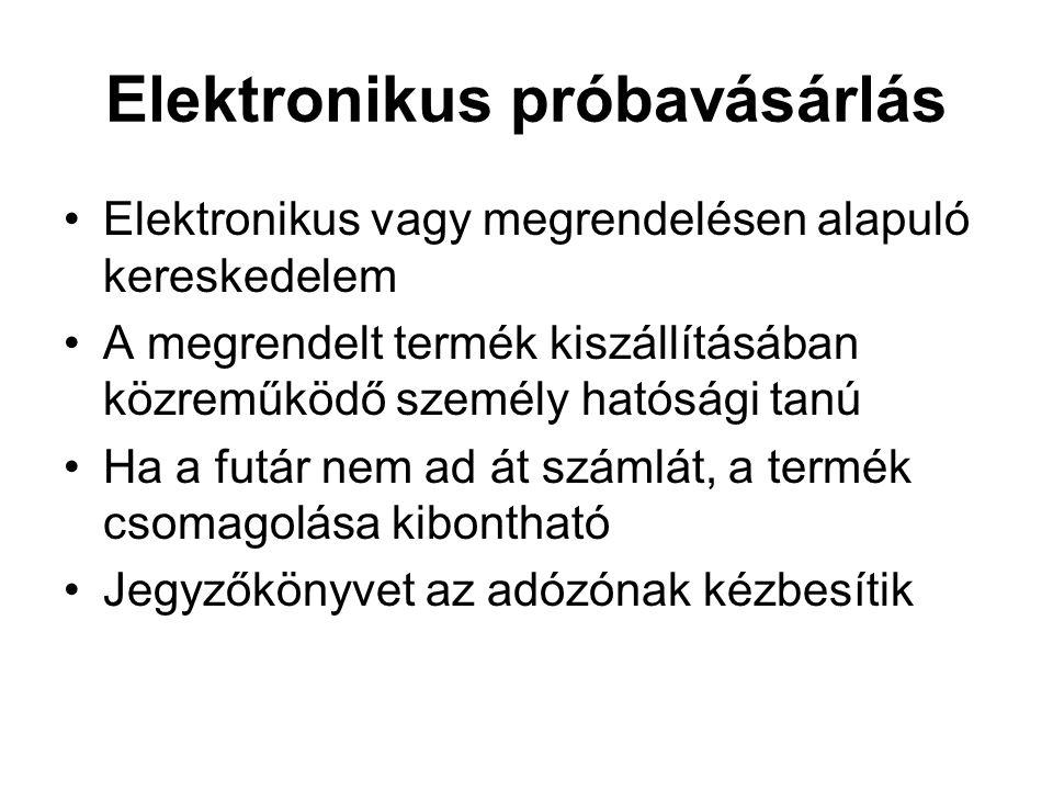 Elektronikus próbavásárlás