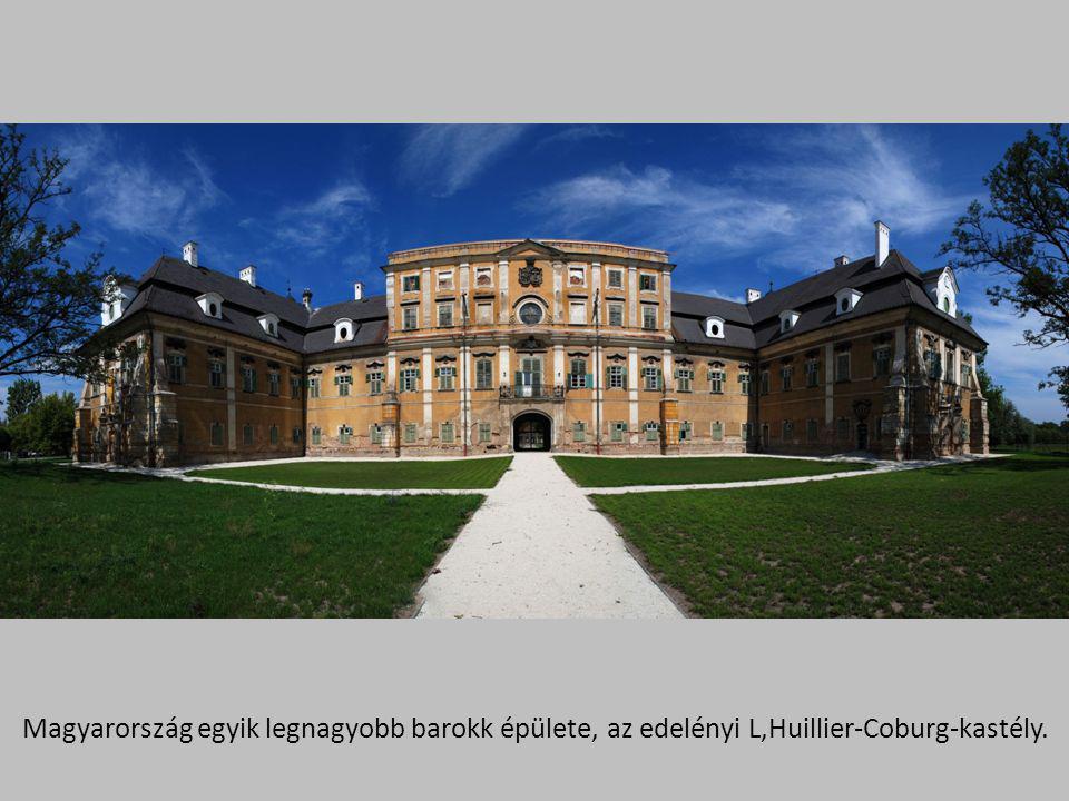 Magyarország egyik legnagyobb barokk épülete, az edelényi L,Huillier-Coburg-kastély.