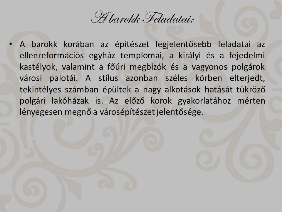 A barokk Feladatai: