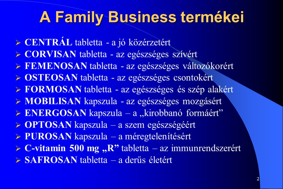 A Family Business termékei
