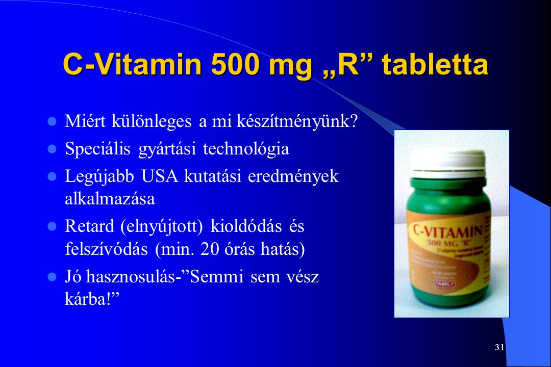 "C-Vitamin 500 mg ""R tabletta"