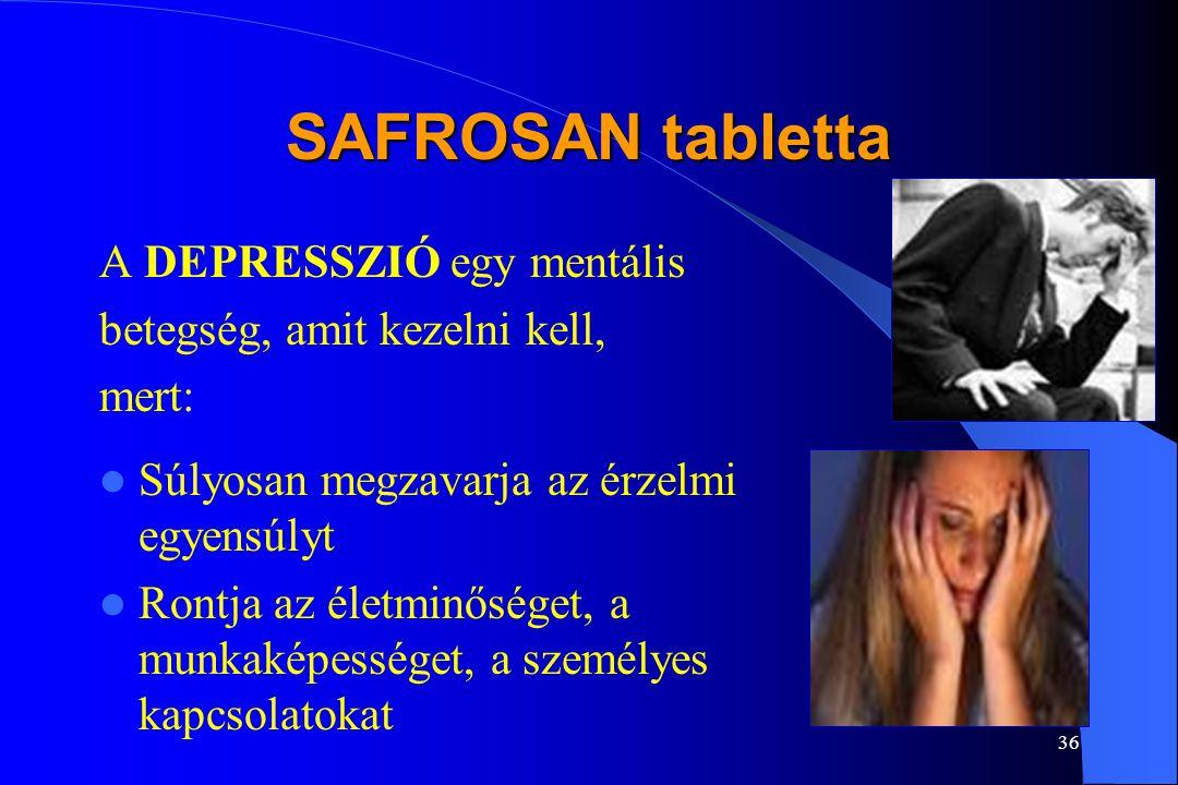 SAFROSAN tabletta A DEPRESSZIÓ egy mentális