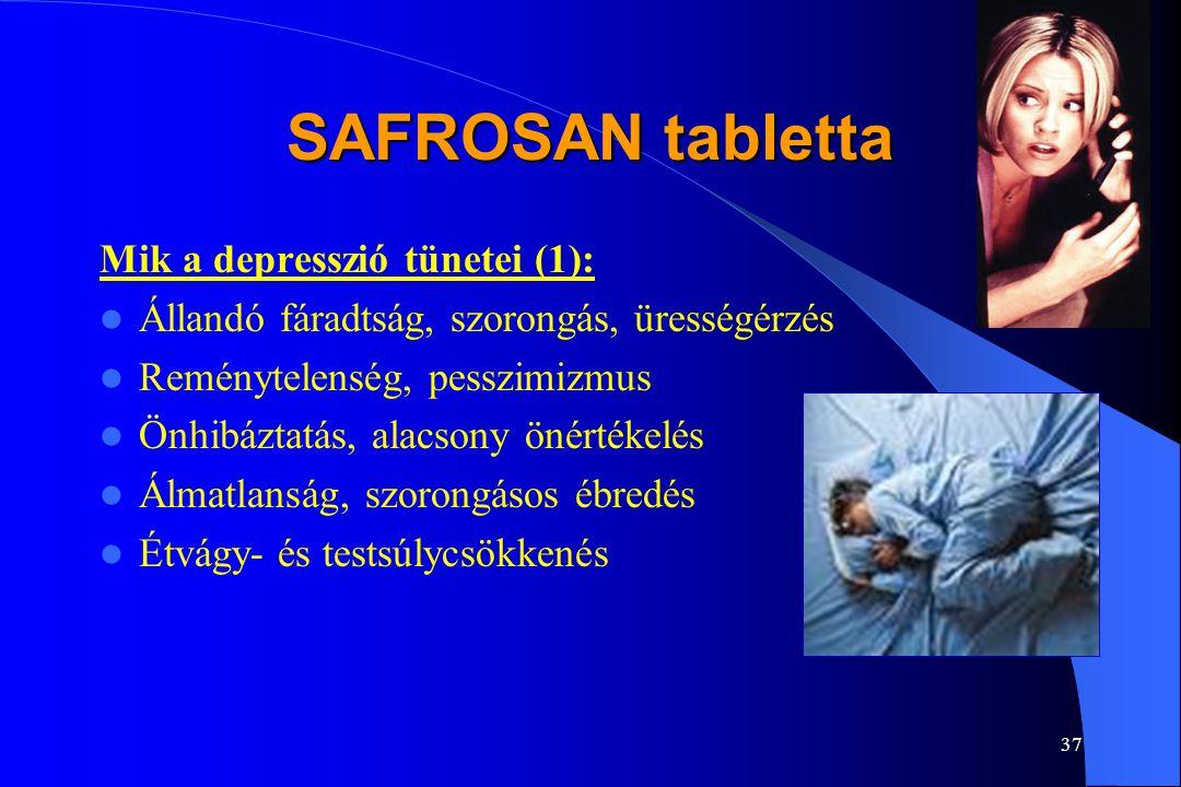 SAFROSAN tabletta Mik a depresszió tünetei (1):