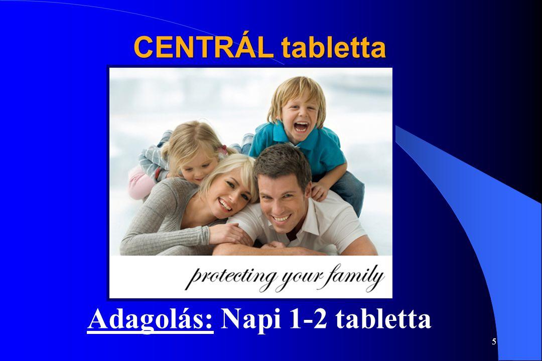 Adagolás: Napi 1-2 tabletta