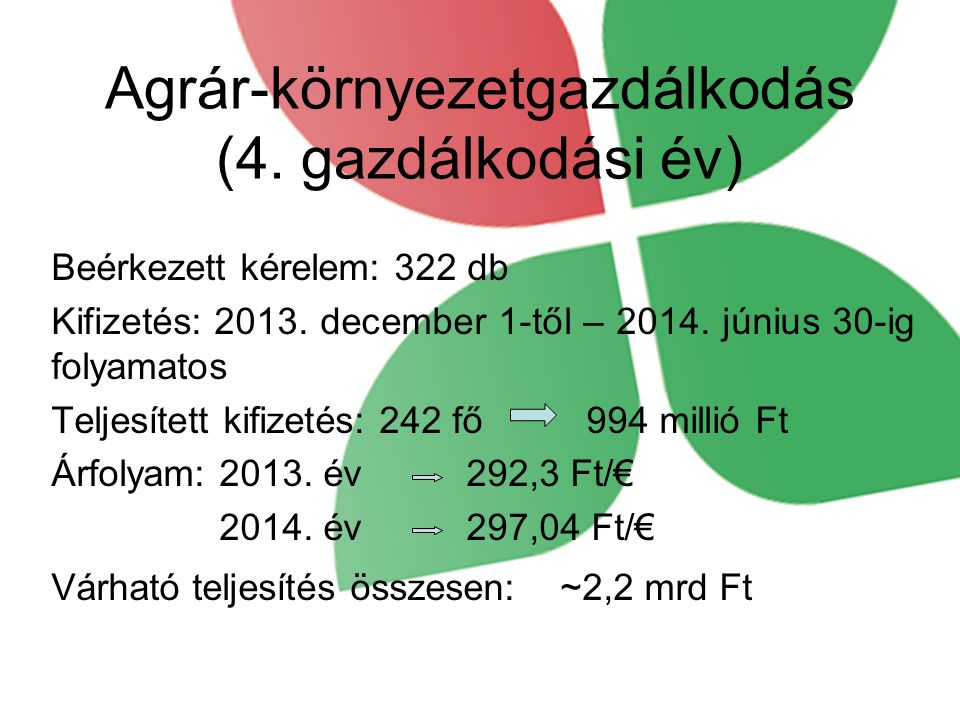 Agrár-környezetgazdálkodás (4. gazdálkodási év)