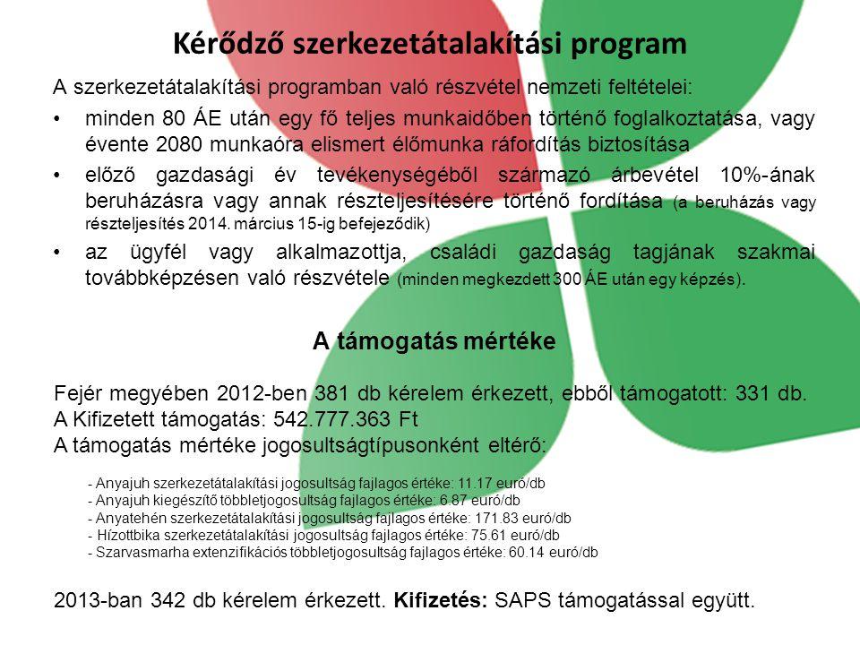 Kérődző szerkezetátalakítási program