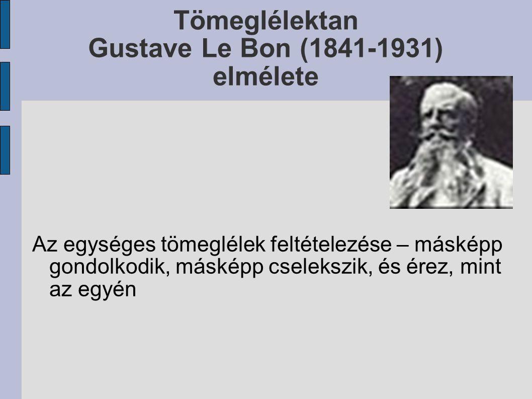 Tömeglélektan Gustave Le Bon (1841-1931) elmélete