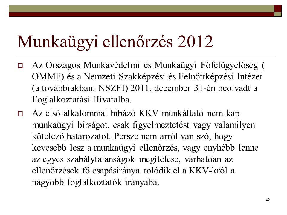Munkaügyi ellenőrzés 2012