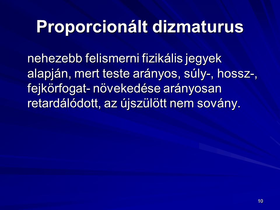 Proporcionált dizmaturus