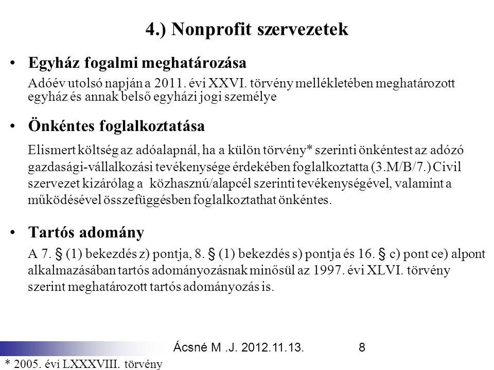 4.) Nonprofit szervezetek