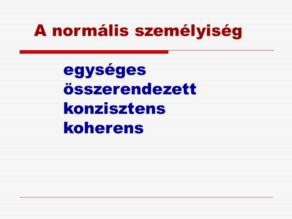 A normális személyiség