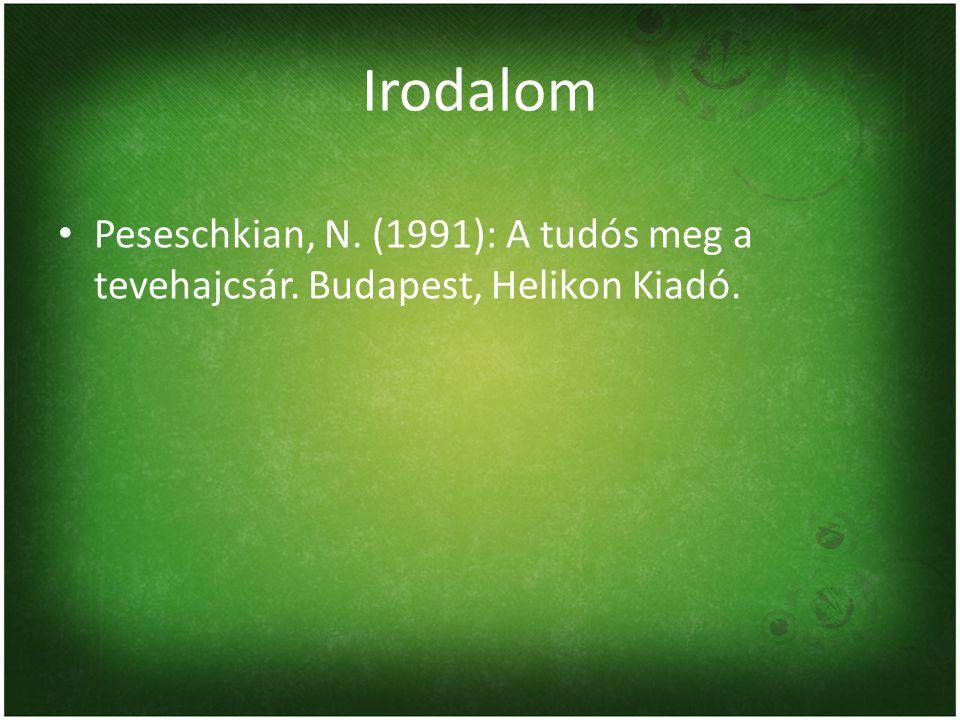 Irodalom Peseschkian, N. (1991): A tudós meg a tevehajcsár. Budapest, Helikon Kiadó.