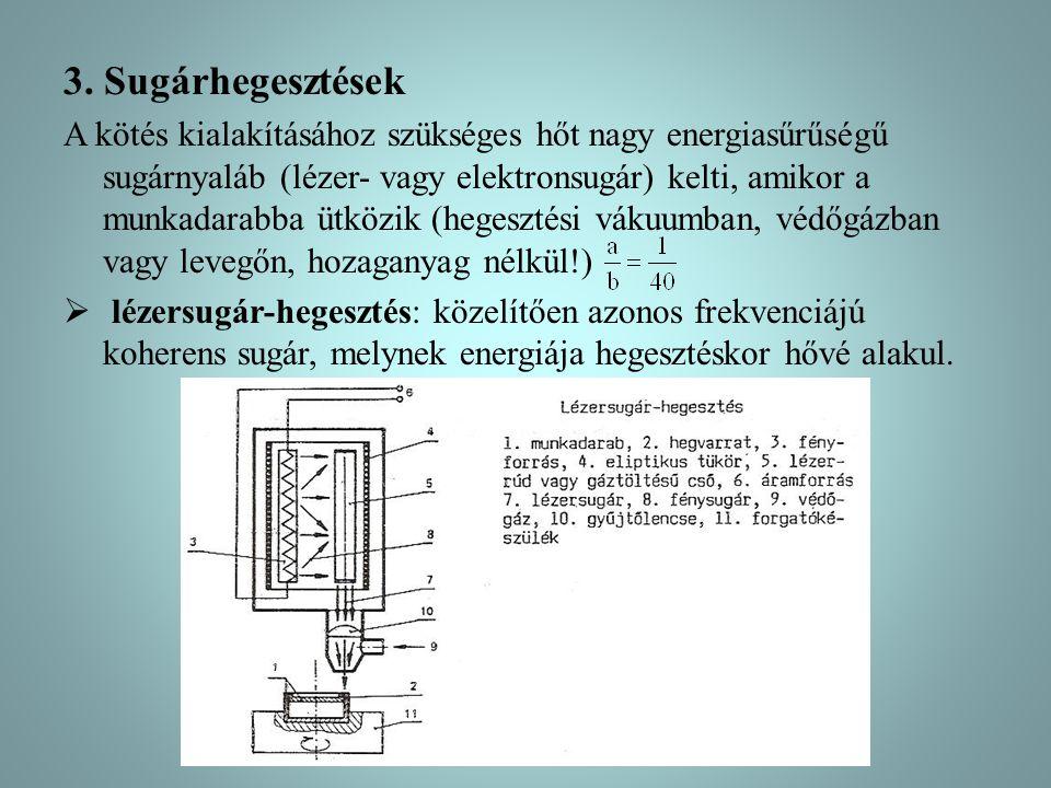 3. Sugárhegesztések