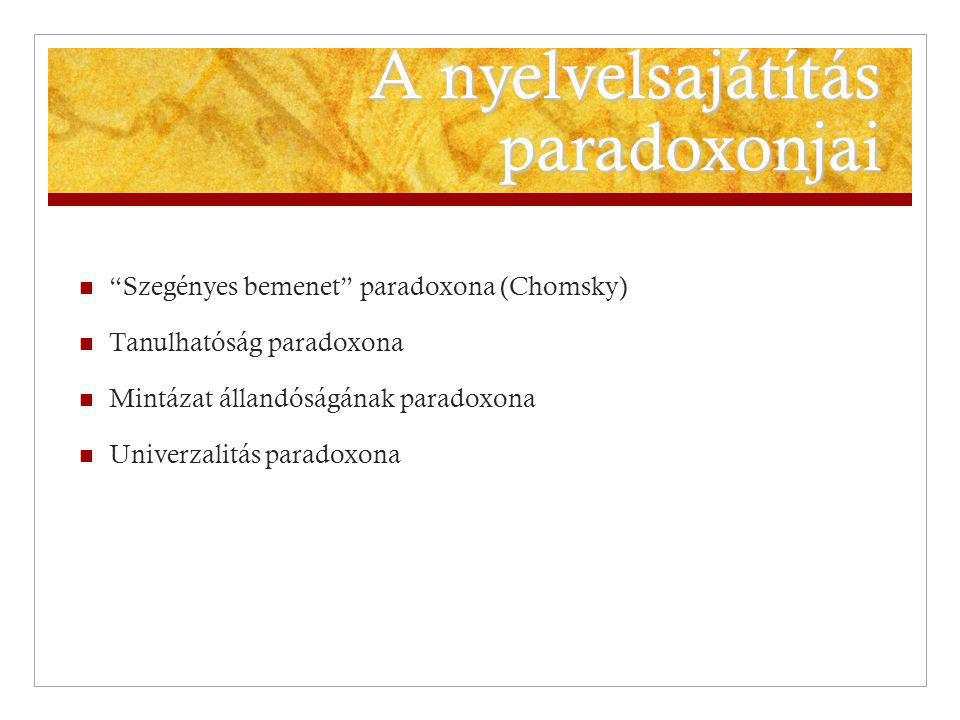 A nyelvelsajátítás paradoxonjai