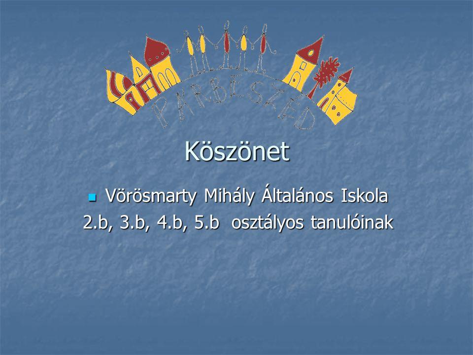 Köszönet Vörösmarty Mihály Általános Iskola