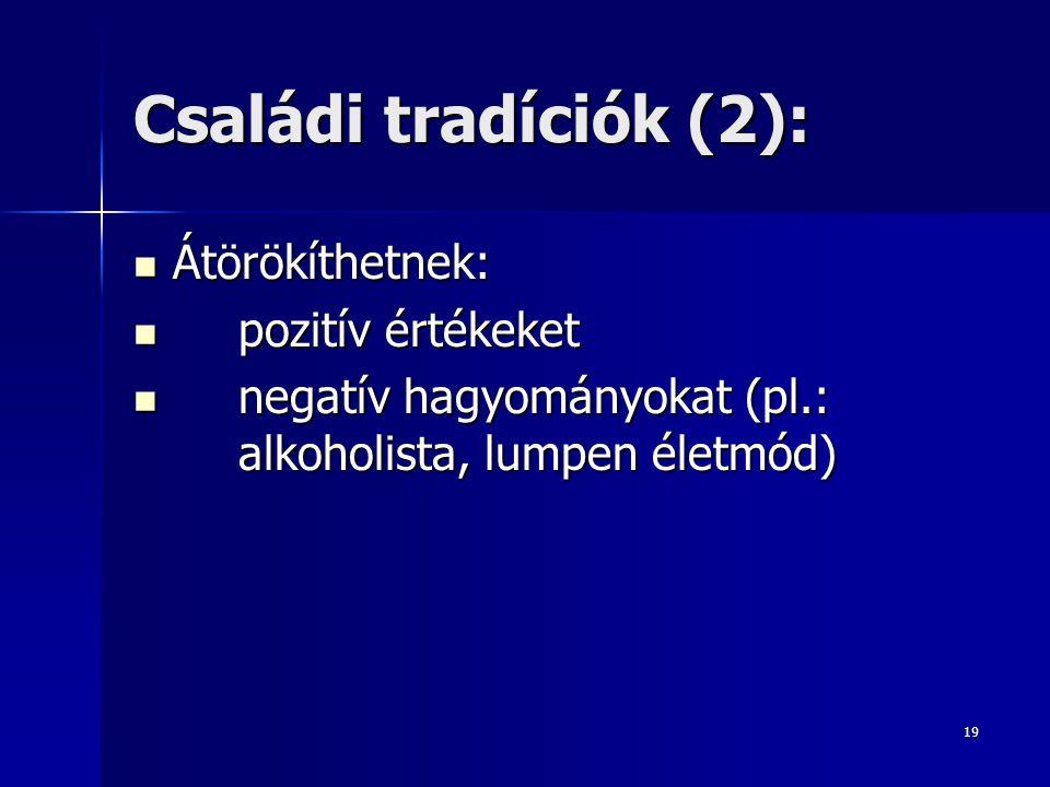 Családi tradíciók (2): Átörökíthetnek: pozitív értékeket