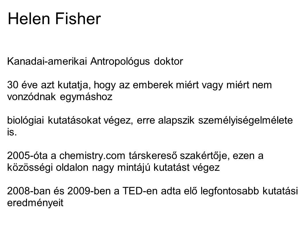 Helen Fisher Kanadai-amerikai Antropológus doktor