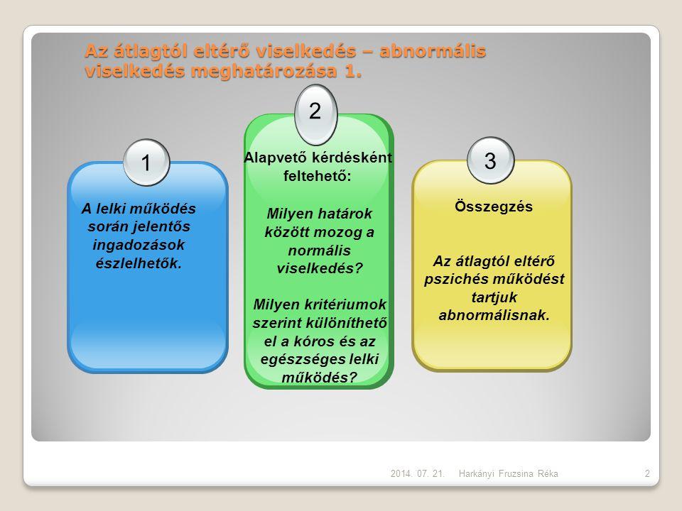 Az átlagtól eltérő viselkedés – abnormális viselkedés meghatározása 1.