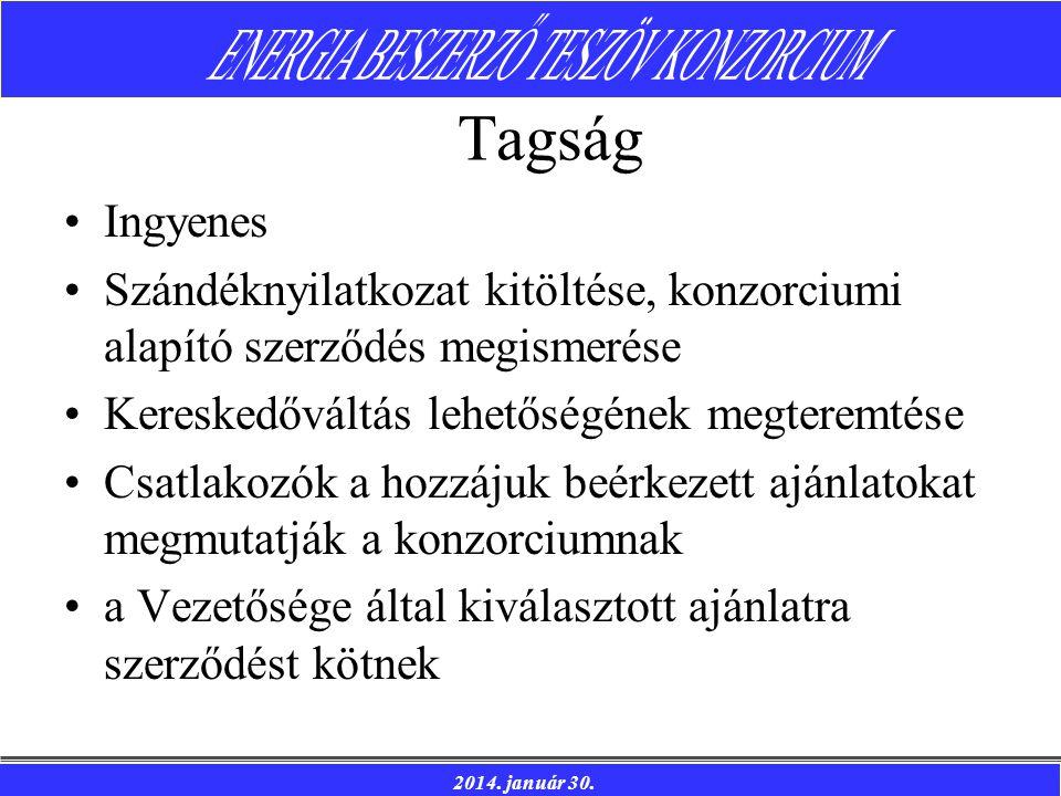 Tagság Ingyenes. Szándéknyilatkozat kitöltése, konzorciumi alapító szerződés megismerése. Kereskedőváltás lehetőségének megteremtése.
