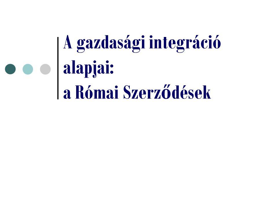 A gazdasági integráció alapjai: a Római Szerződések