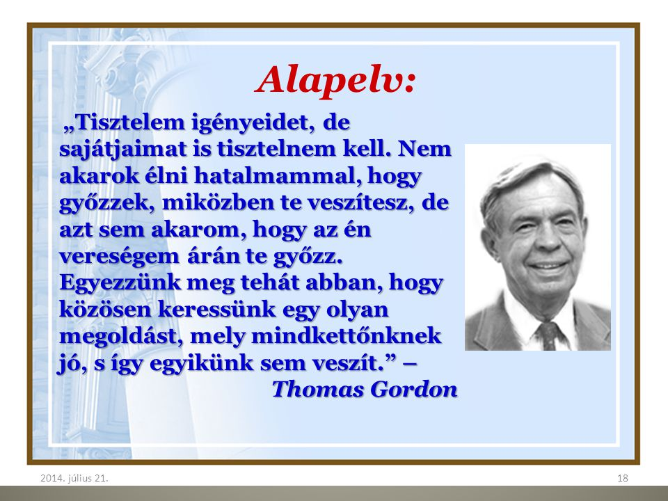 Alapelv: Thomas Gordon