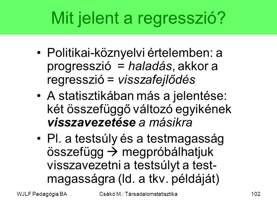 Mit jelent a regresszió