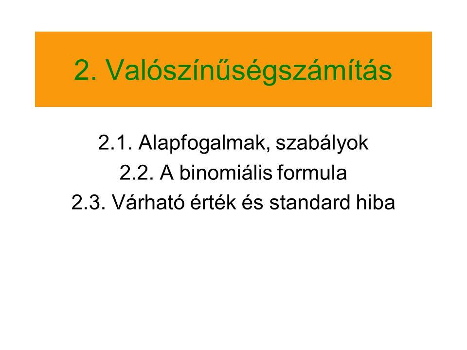 2. Valószínűségszámítás