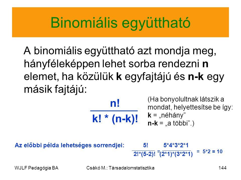 Binomiális együttható