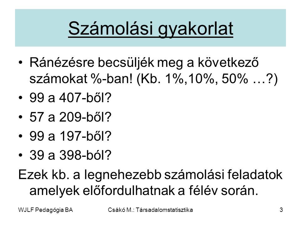 Csákó M.: Társadalomstatisztika