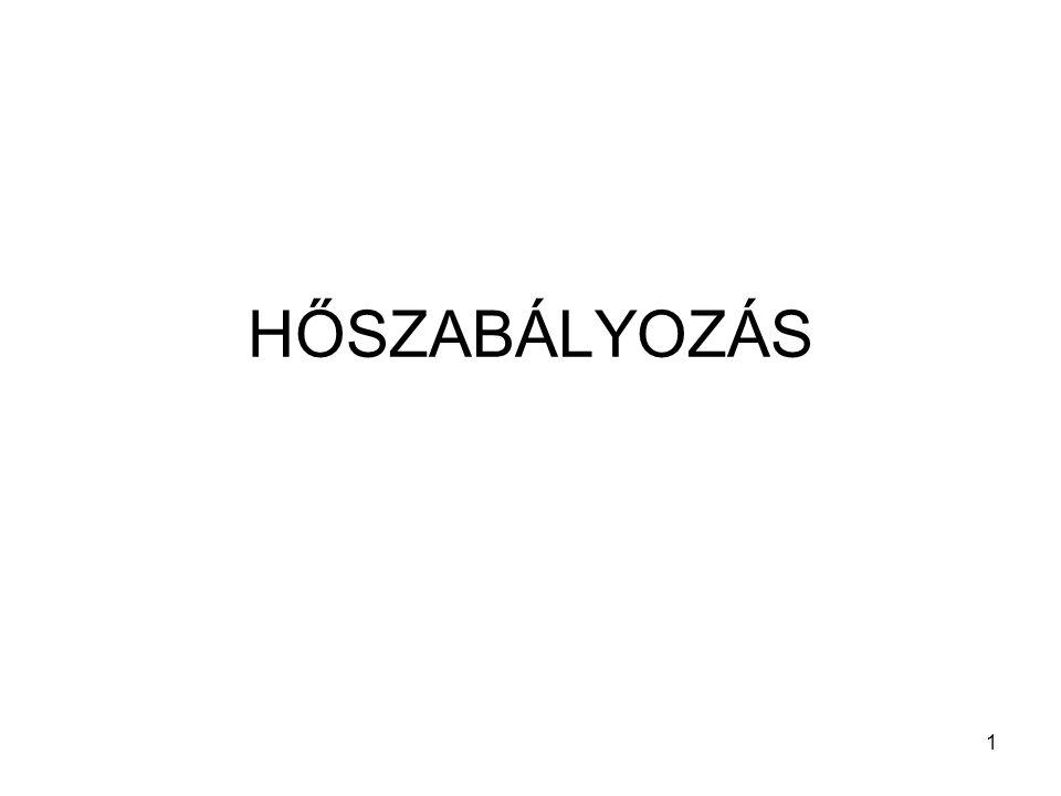HŐSZABÁLYOZÁS