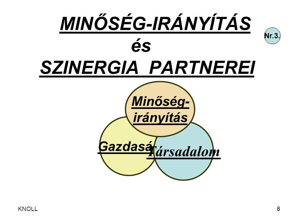 MINŐSÉG-IRÁNYÍTÁS és SZINERGIA PARTNEREI