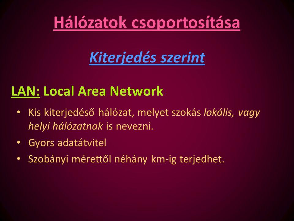 Hálózatok csoportosítása