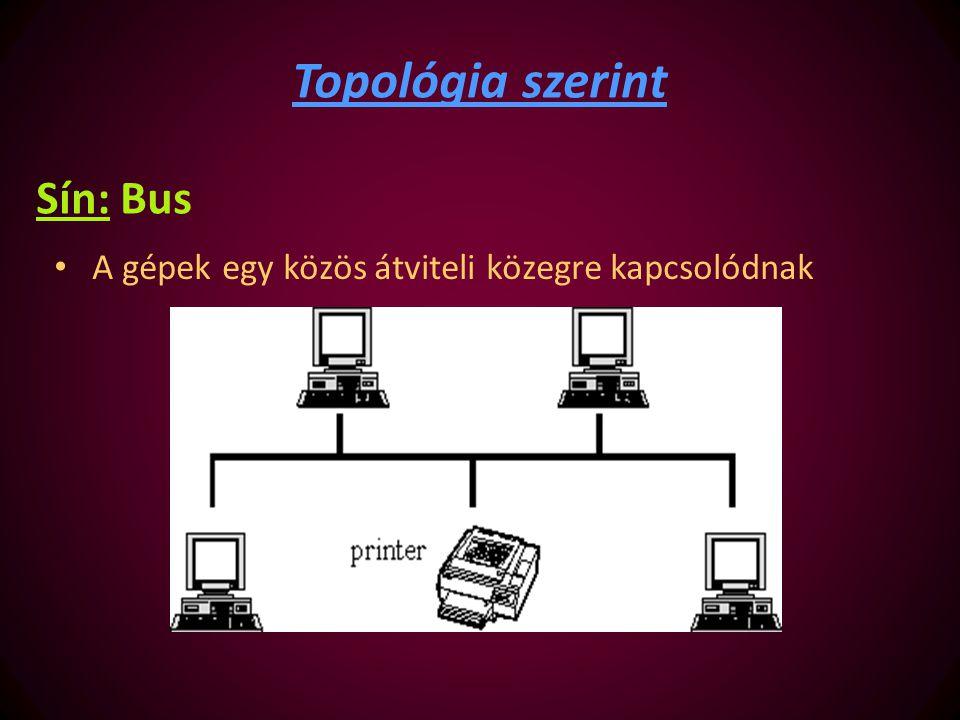 Topológia szerint Sín: Bus