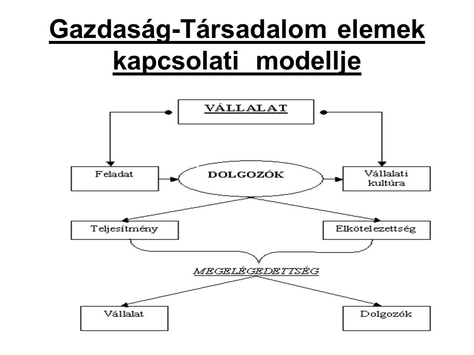 Gazdaság-Társadalom elemek kapcsolati modellje