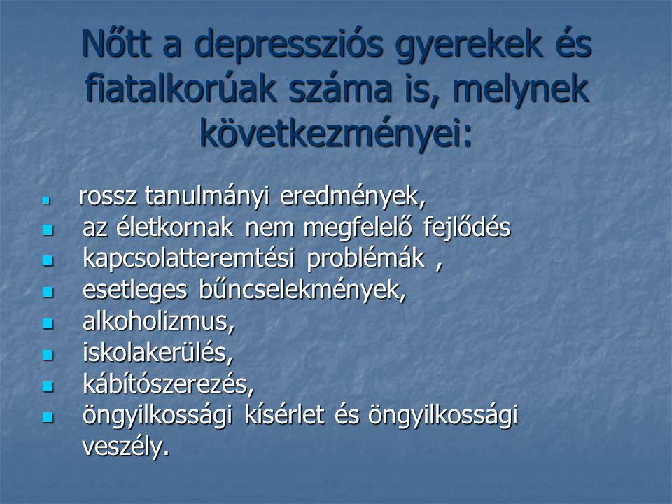Nőtt a depressziós gyerekek és fiatalkorúak száma is, melynek következményei: