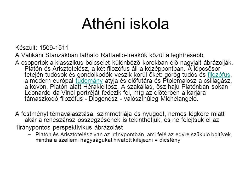 Athéni iskola Készült: 1509-1511