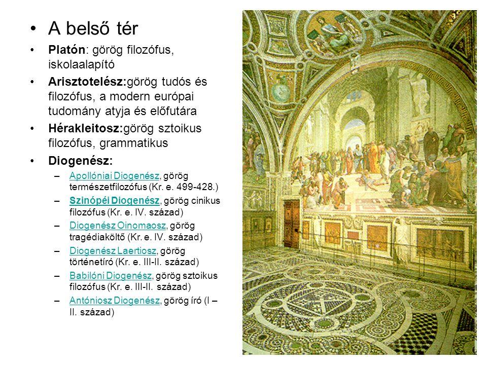 A belső tér Platón: görög filozófus, iskolaalapító