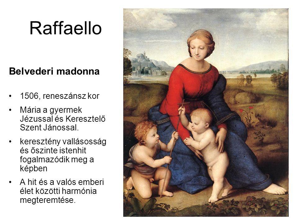 Raffaello Belvederi madonna 1506, reneszánsz kor