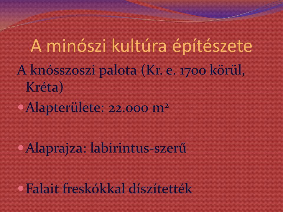 A minószi kultúra építészete