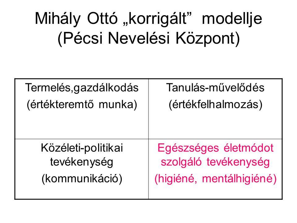 """Mihály Ottó """"korrigált modellje (Pécsi Nevelési Központ)"""
