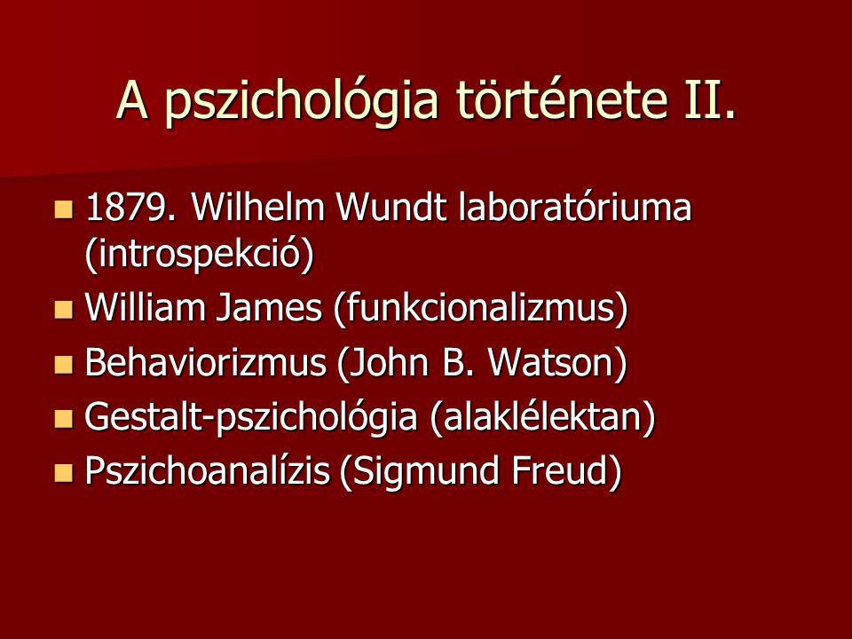 A pszichológia története II.