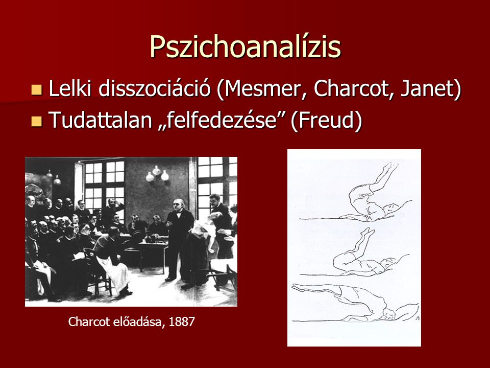 Pszichoanalízis Lelki disszociáció (Mesmer, Charcot, Janet)