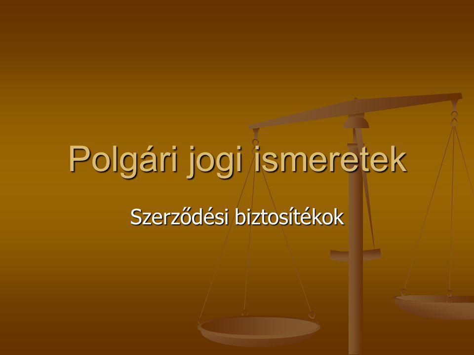 Polgári jogi ismeretek