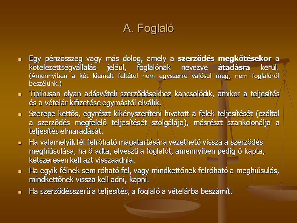 A. Foglaló