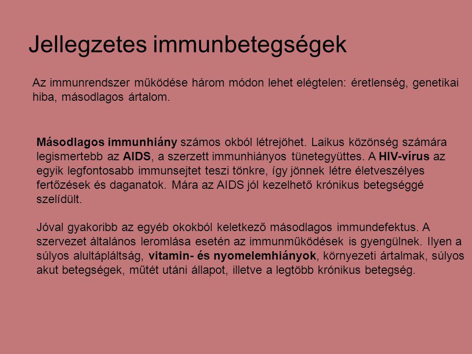 Jellegzetes immunbetegségek