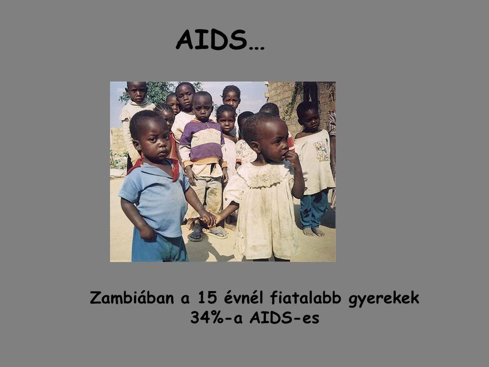 Zambiában a 15 évnél fiatalabb gyerekek 34%-a AIDS-es