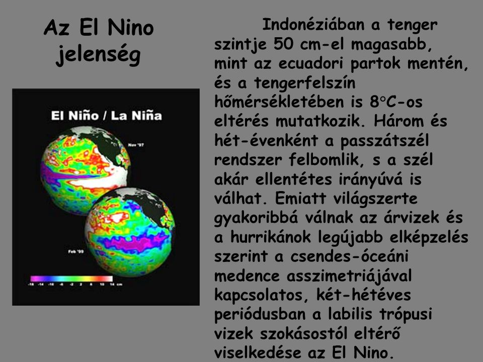 Az El Nino jelenség