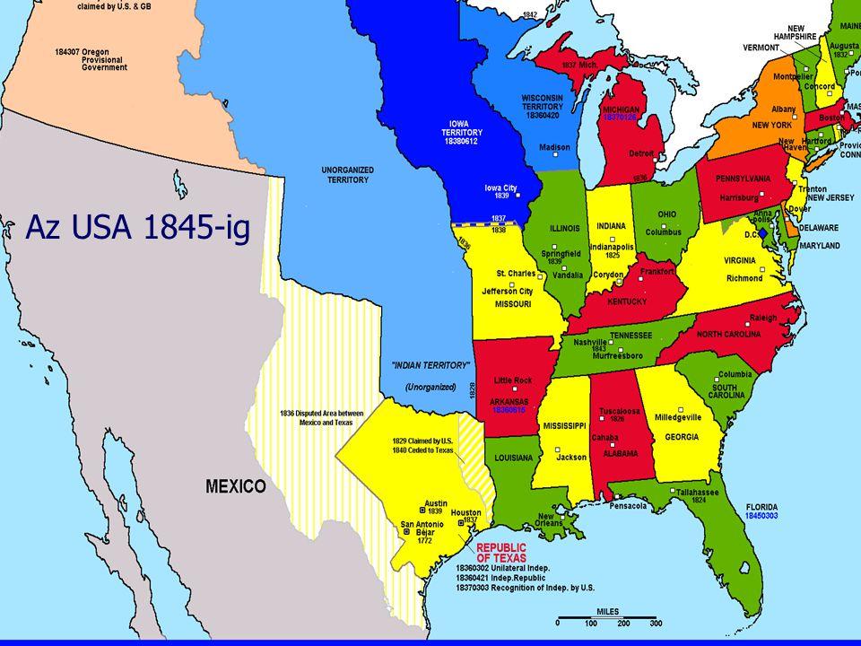 Az USA 1845-ig